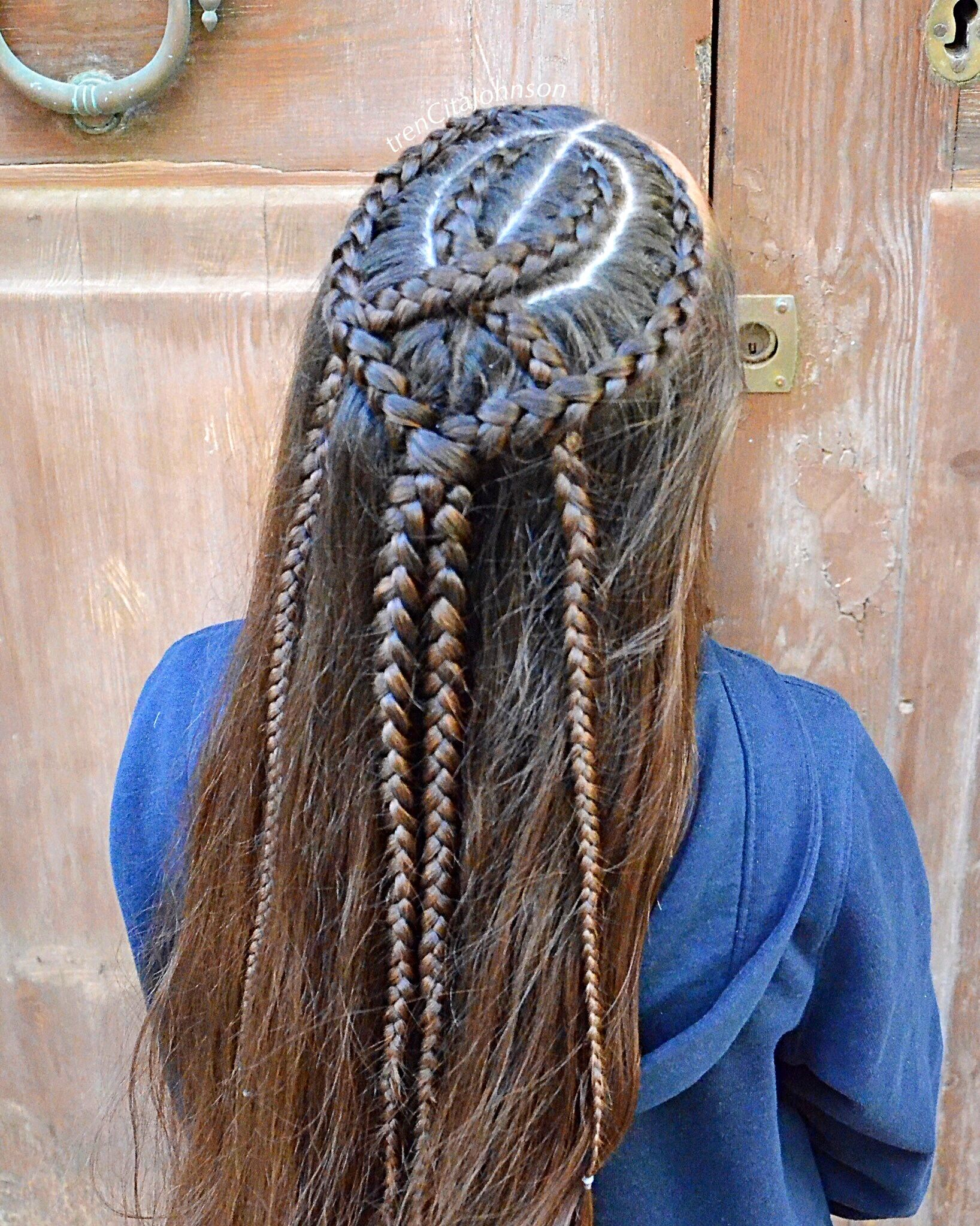 Dutch Braids For A Halfup Style Frisuren Frisuren Langhaar