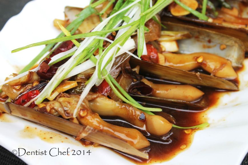 recipe stir fried razor clams chinese style oyster sauce