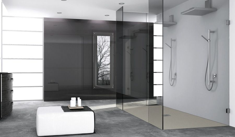 Beautiful Fiora Silex Shower Tray In Wetroom With Framless Glass Shower Screen