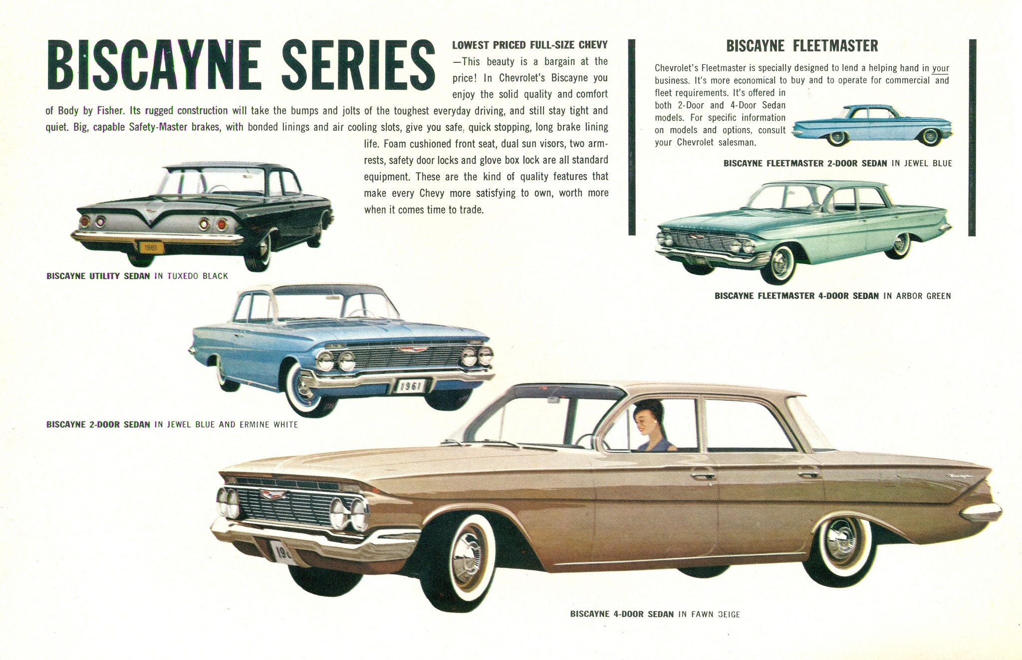 1961 Chevrolet Biscayne Range Chevrolet Automobile Advertising