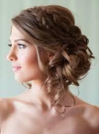 Resultado De Imagen Para Peinados Sencillos Y Bonitos Para Fiesta De 15 Sencilla Peinados Elegantes Peinados Con Trenzas Peinados Poco Cabello