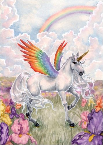 Poster Rainbow Wings Mythical Images Pinterest