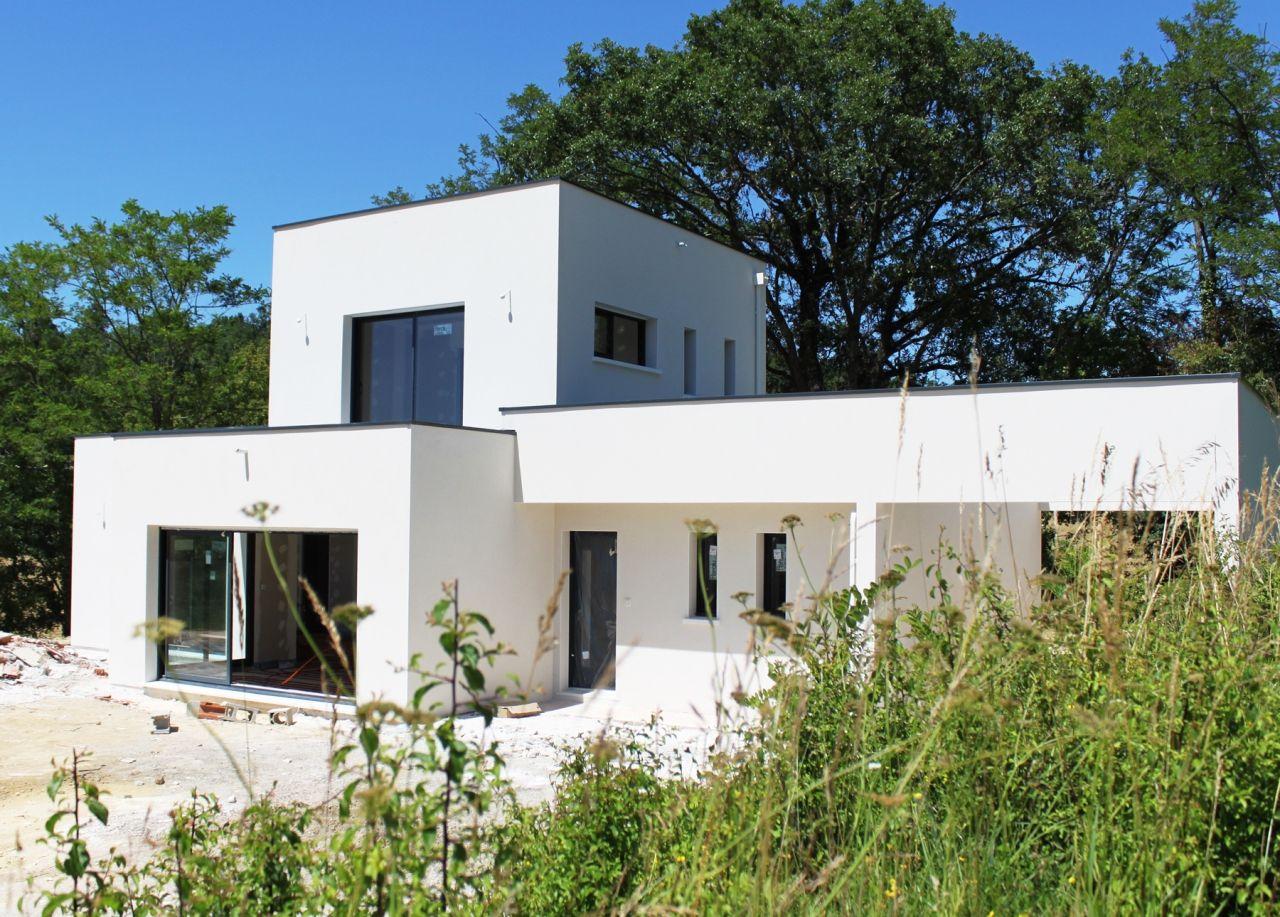 Constructeur Maison Contemporaine Toulouse maison contemporaine toiture plate - mètre carré