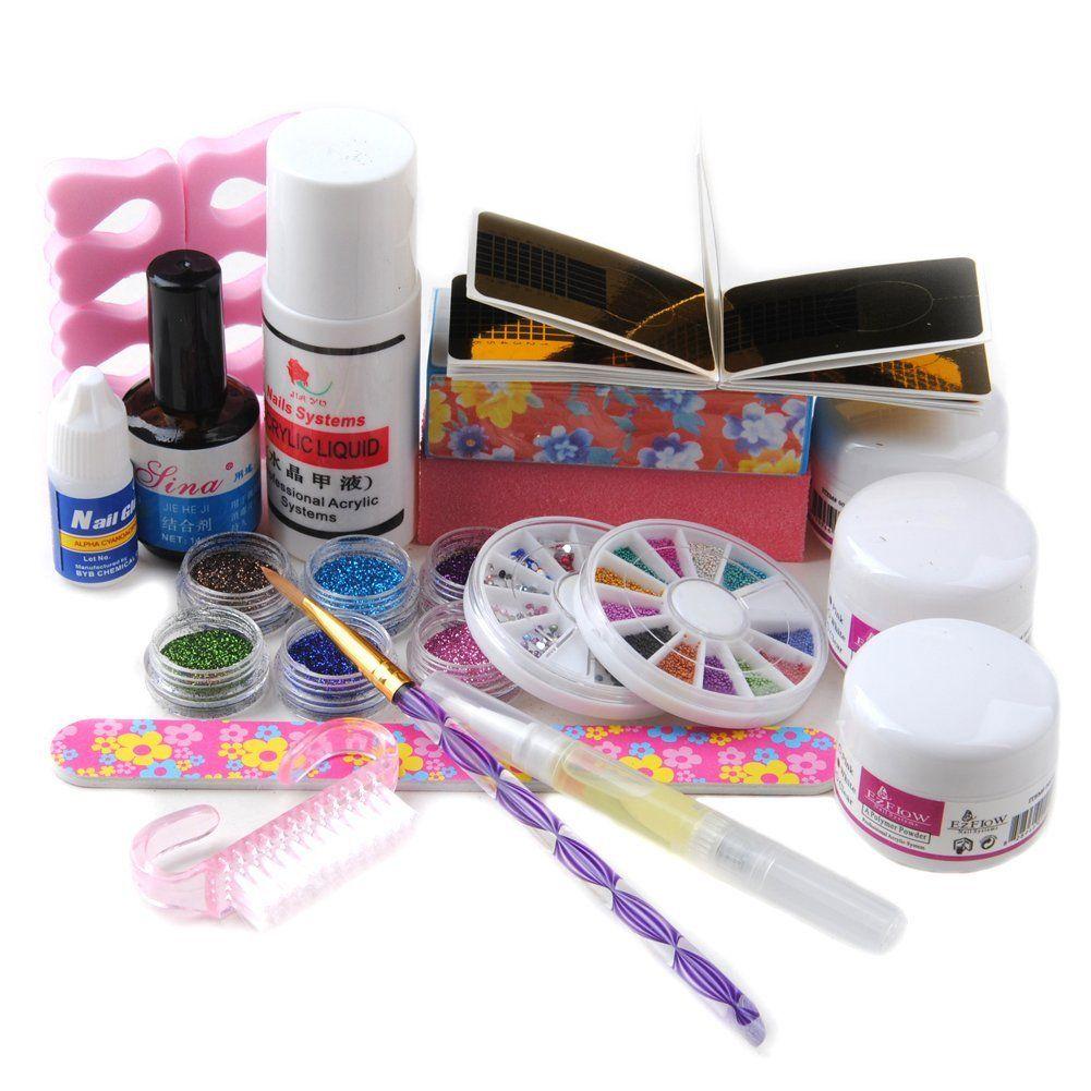 Coscelia Acrylic Powder Liquid Kits Nail Art Sable Acrylic Brush