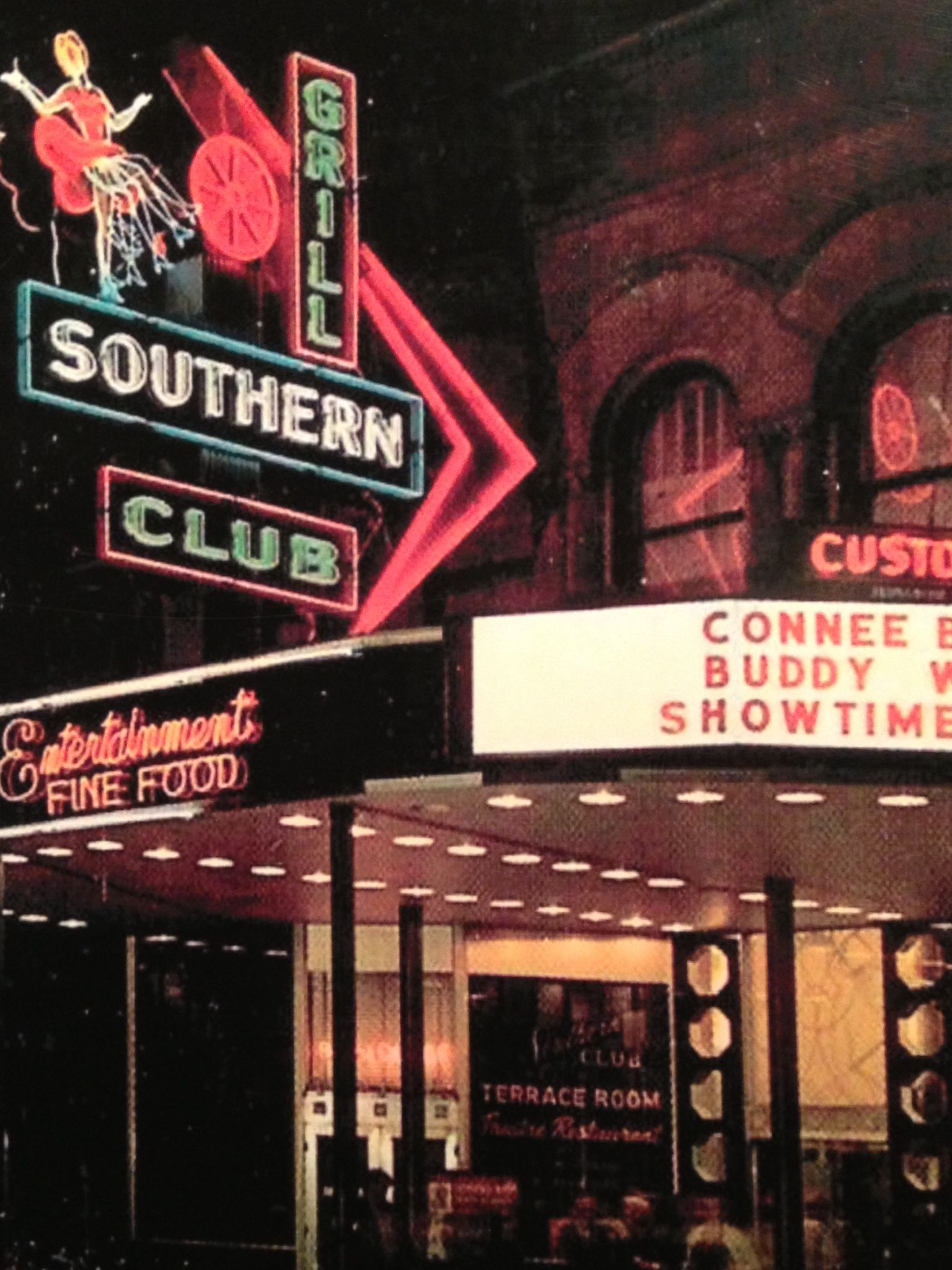Vintage Shot Of Southern Club In Its Heyday On Bathhouse Row In Hot
