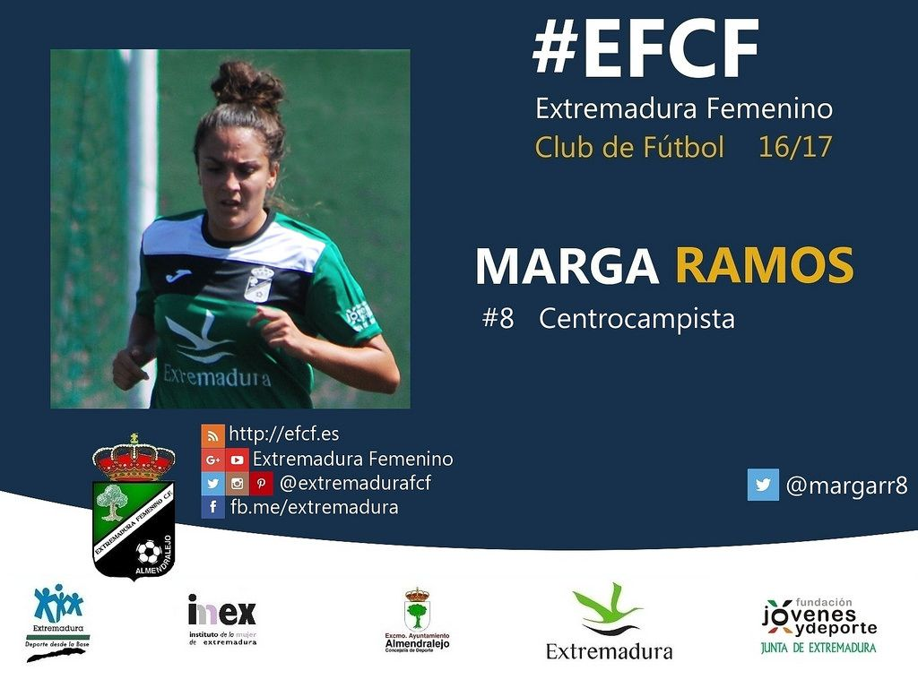 Marga Ramos.  #EFCF #futfem #Almendralejo #Extremadura #futbol