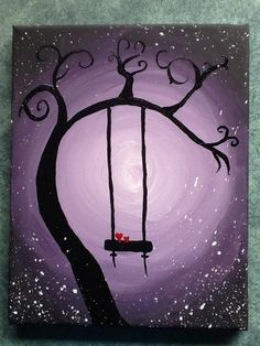 Acrylic Painting Tree With Swing
