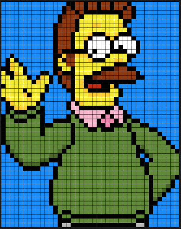 hey diyers  enjoy these patterns of homer  marge  bart