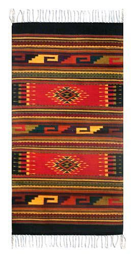 Zapotec Wool Area Rug 2 5x5 Ancestral Red In 2020