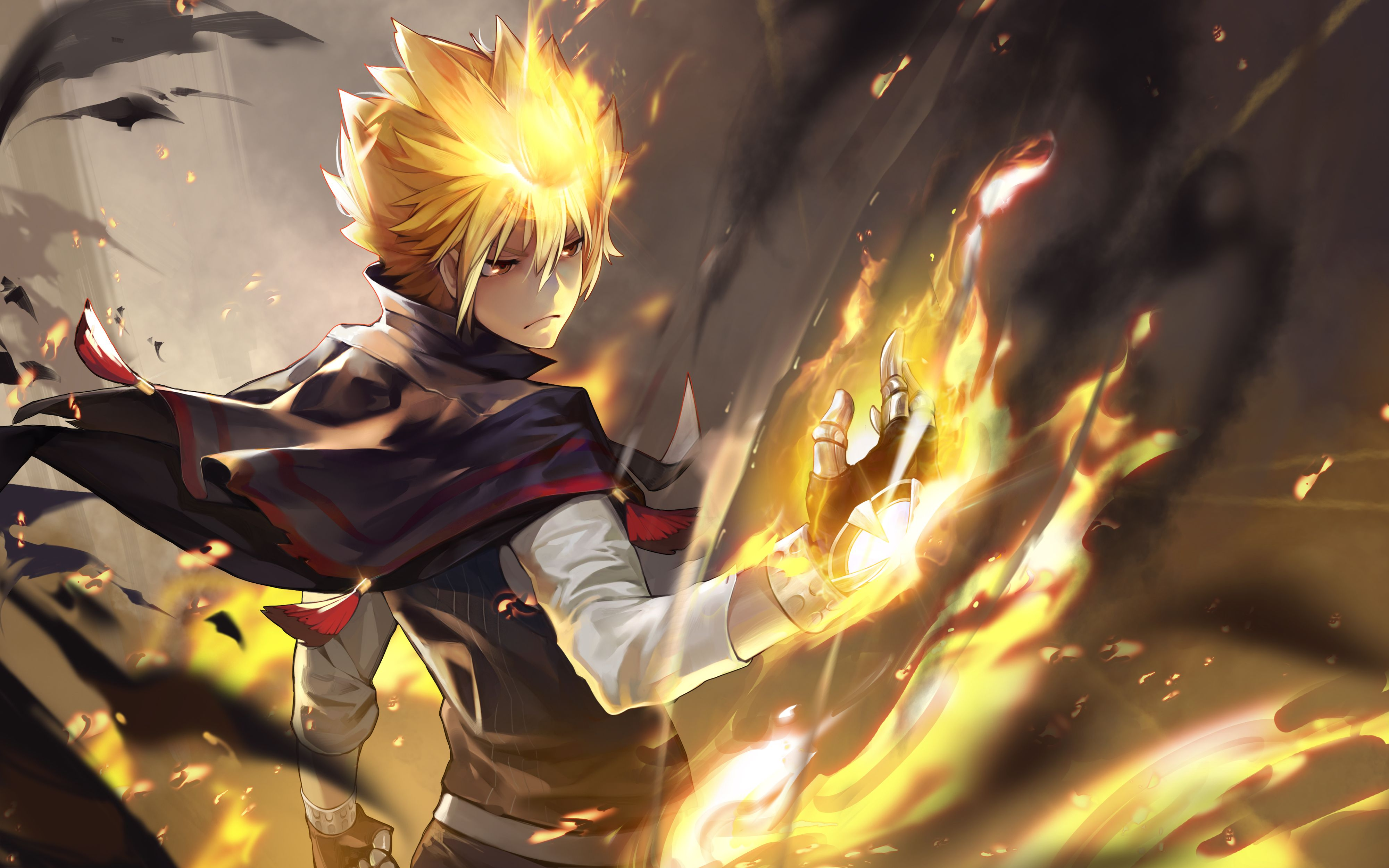 Giotto katekyō hitman reborn fire anime boy