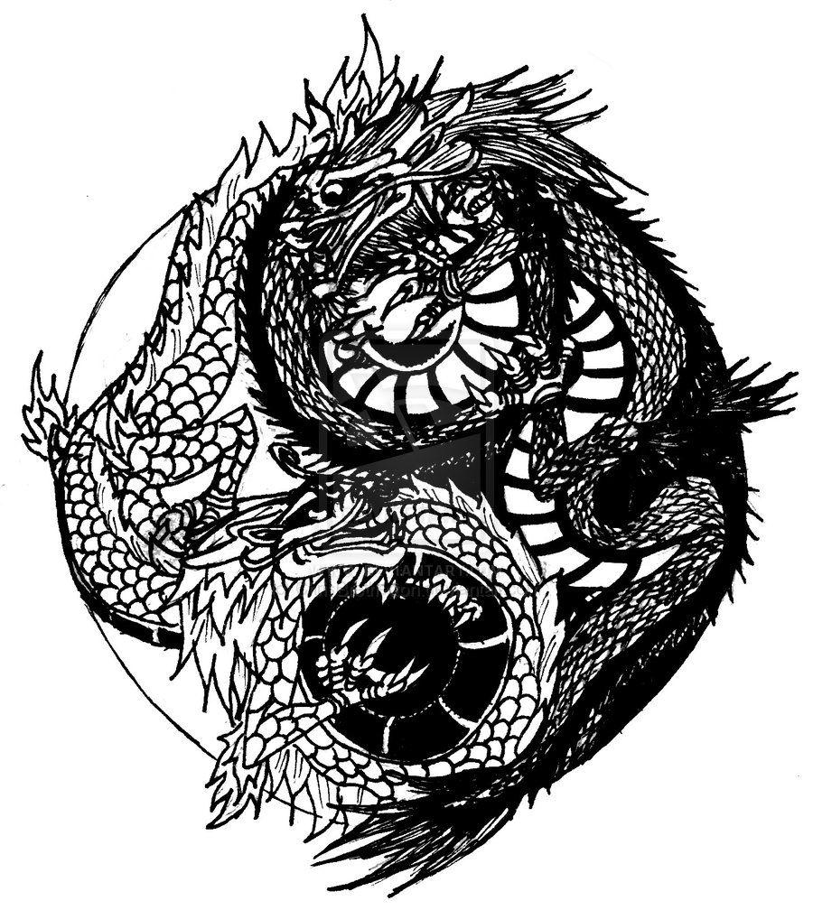 Yin Yang Dragon Tattoos Google Search In 2020 Yin Yang Tattoos Yin Yang Dragon Yin Yang Tattoo