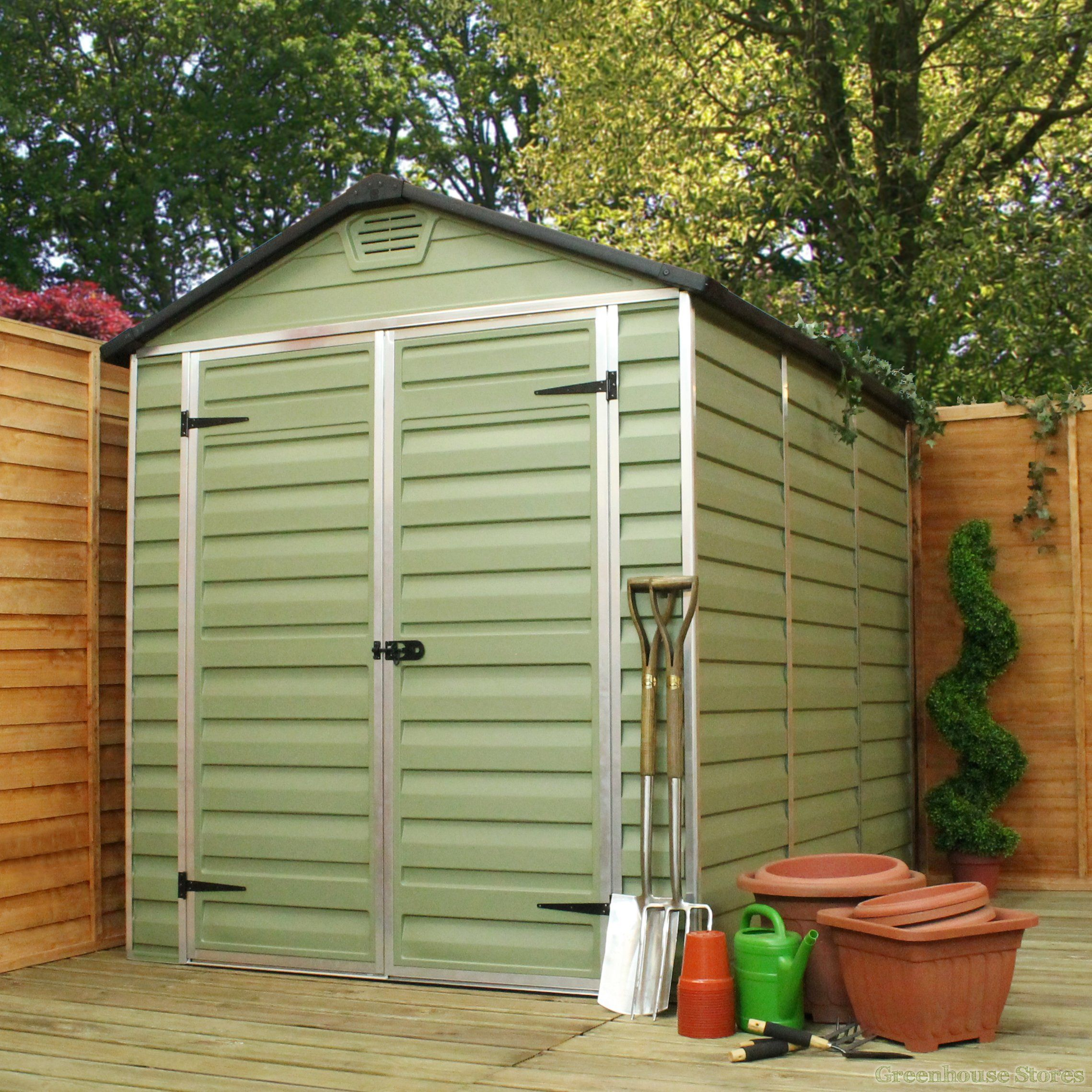 palram 6 x 5 plastic skylight shed - Garden Sheds 6 X 5