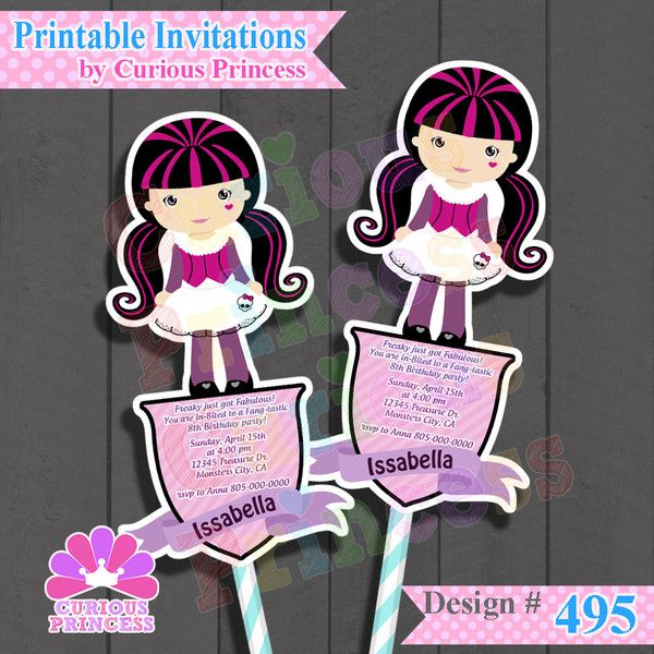 monster high happy birthday party ideas invitations supplies 1500 decorations unique ooak shaped invites draculaura halloween