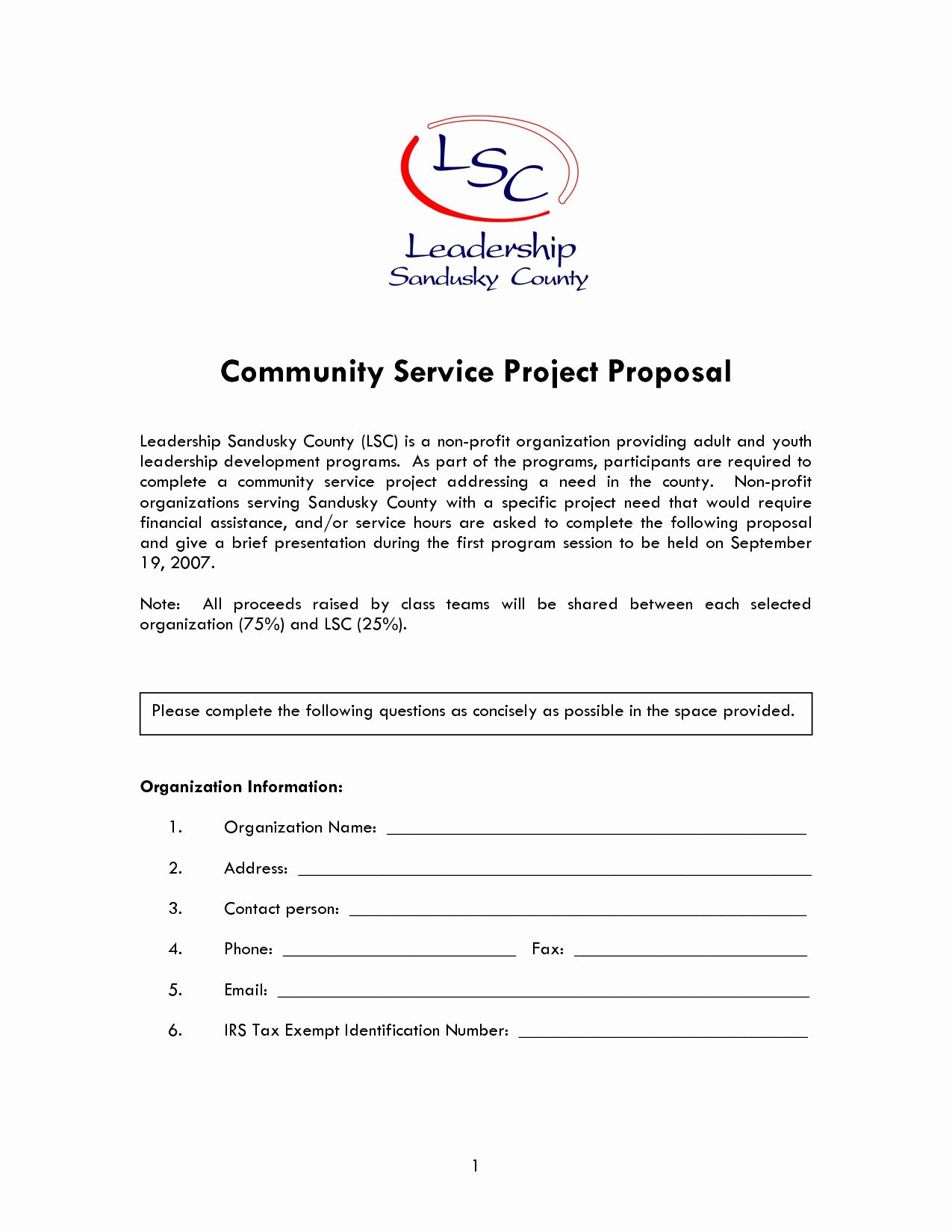 Non Profit Proposal Template in 2020 Proposal templates