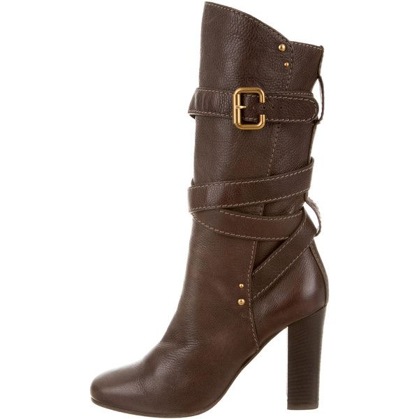 Chloé Leather Round-Toe Boots outlet store online 2014 newest cheap online cheap best seller 8nQgTZb0Y