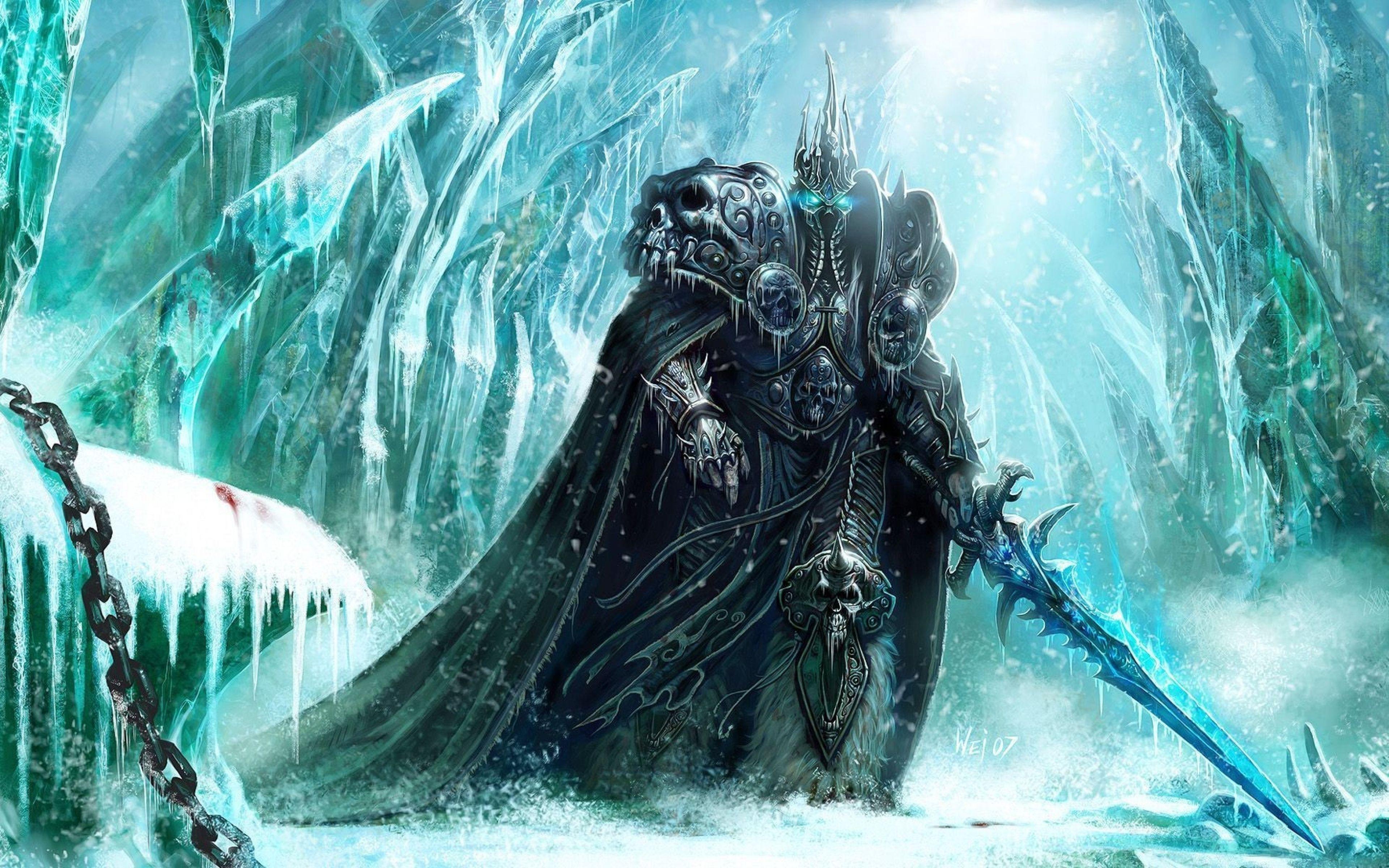 3840x2400 Wallpaper World Of Warcraft Lich King Sword