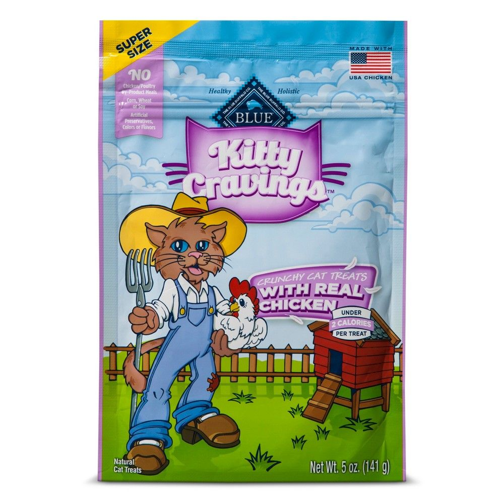 blue buffalo kitty cravings with real chicken crunchy cat treats 5oz
