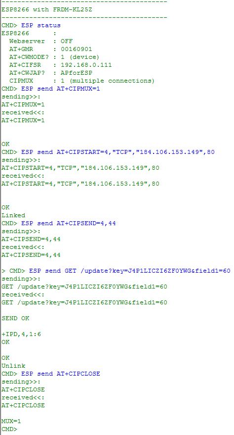 ESP8266 Data Sending to ThingSpeak