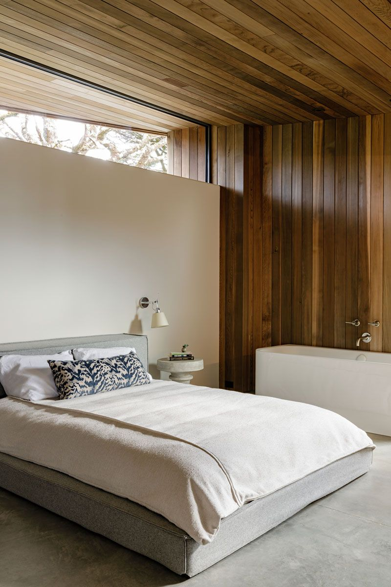 Cedar Walls And Ceilings Are On Display Throughout This Beach