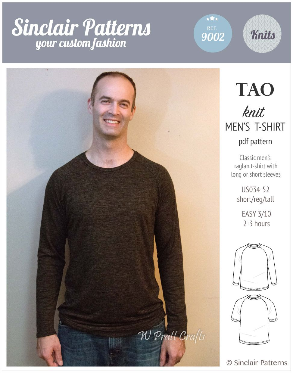 90fe8913 Mens T Shirt Sewing Pattern Pdf