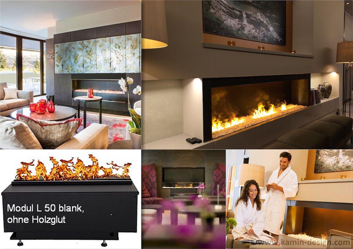 Modul-L50-Blank-Kiesel Elektrokamin von www.kamin-design.eu ...