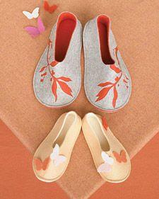 DIY Felt Slippers