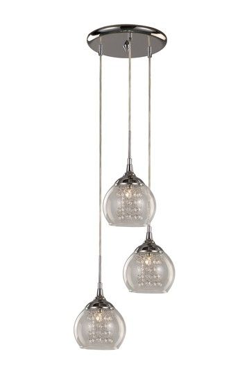 Gl Bowl 3 Light Drop Pendant Lamp By Transglobal Lighting