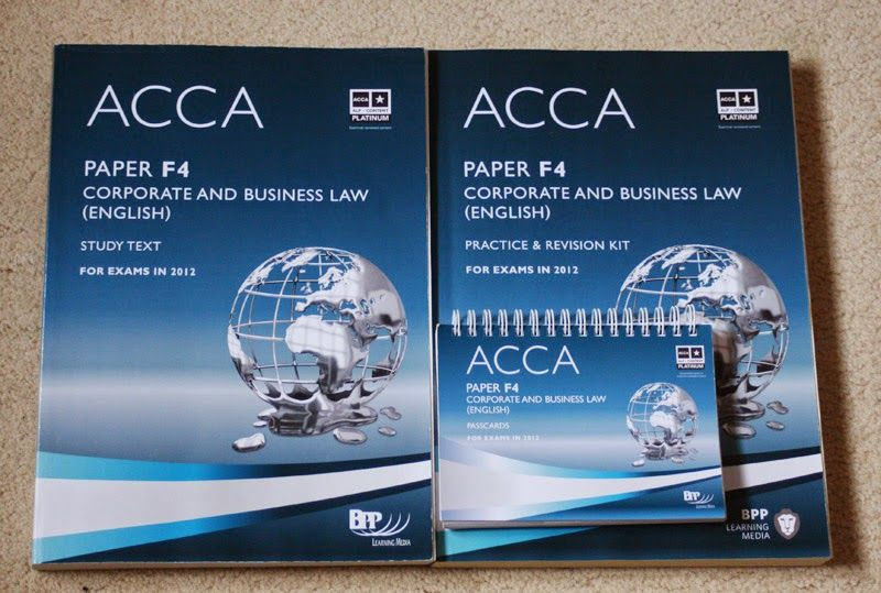 Acca F4 Corporate And Business Law (English) Bpp Revision