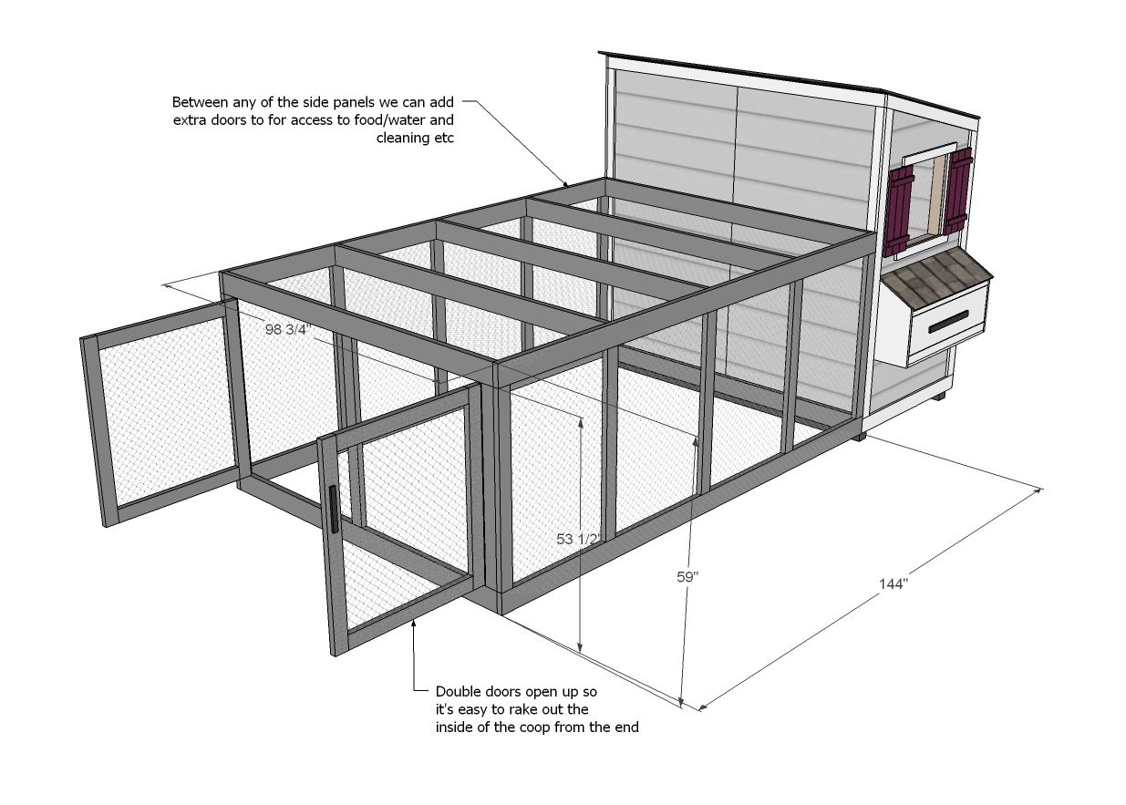 Ana blanc construire un coop run chicken coop pour shed for Coop meubles