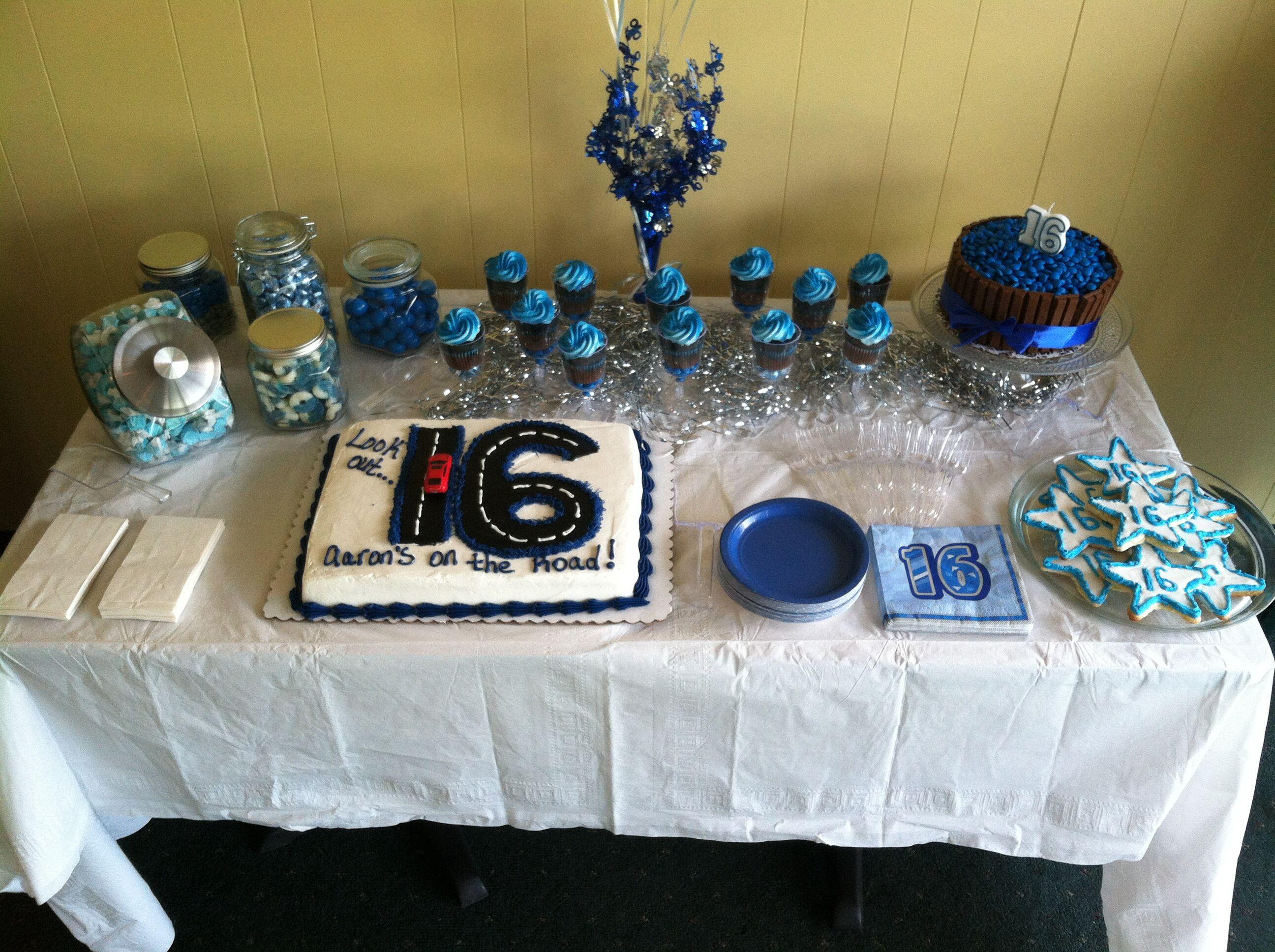 Aarons birthday party boy 16th birthday mens