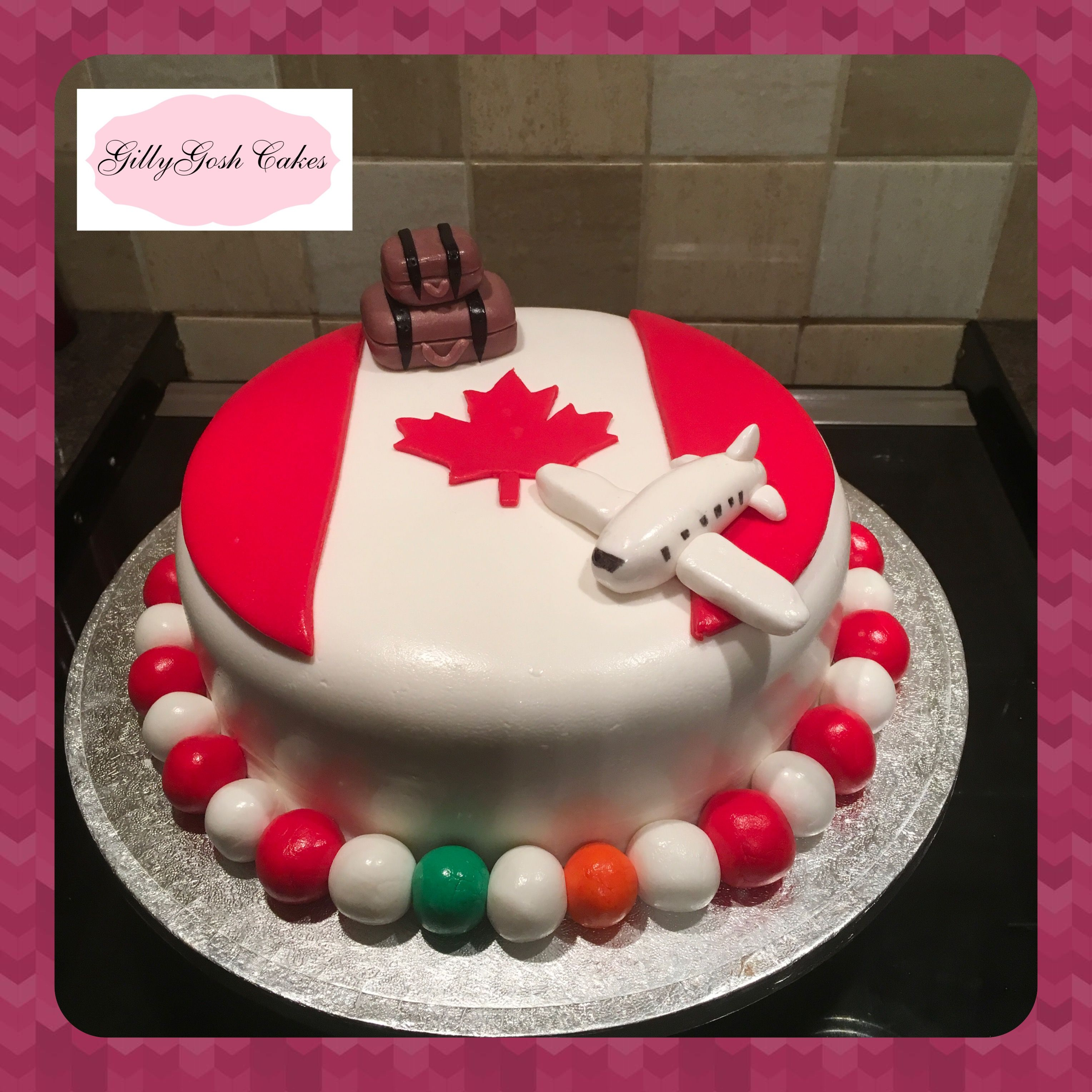 Fabulous Canada Bon Voyage Cake Bon Voyage Cake Party Cakes Cake Funny Birthday Cards Online Chimdamsfinfo