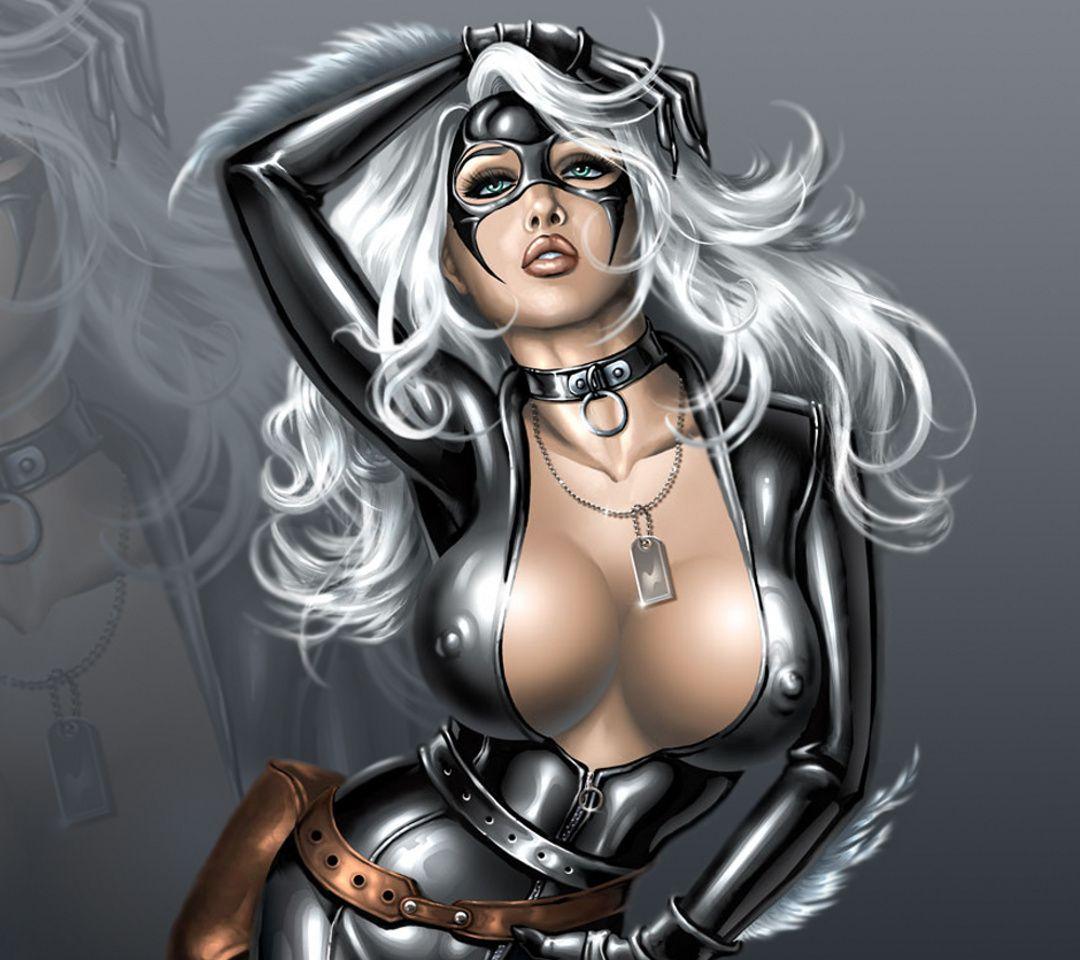 Black Cat 018 Silver Boobs