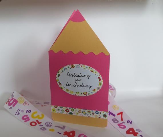 "Invitation card for the beginning of school ""Buntstift"" in ..."