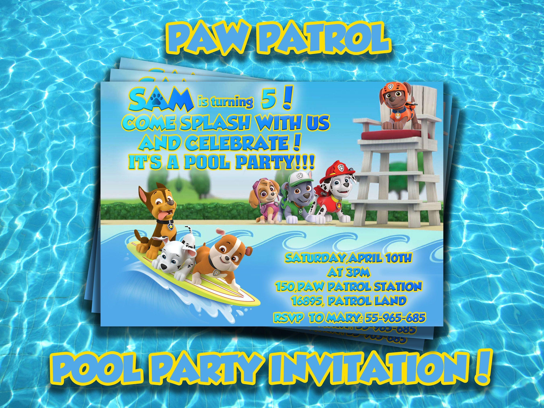 Pool Party Einladung Basteln | Geburtstag Einladung | Pinterest