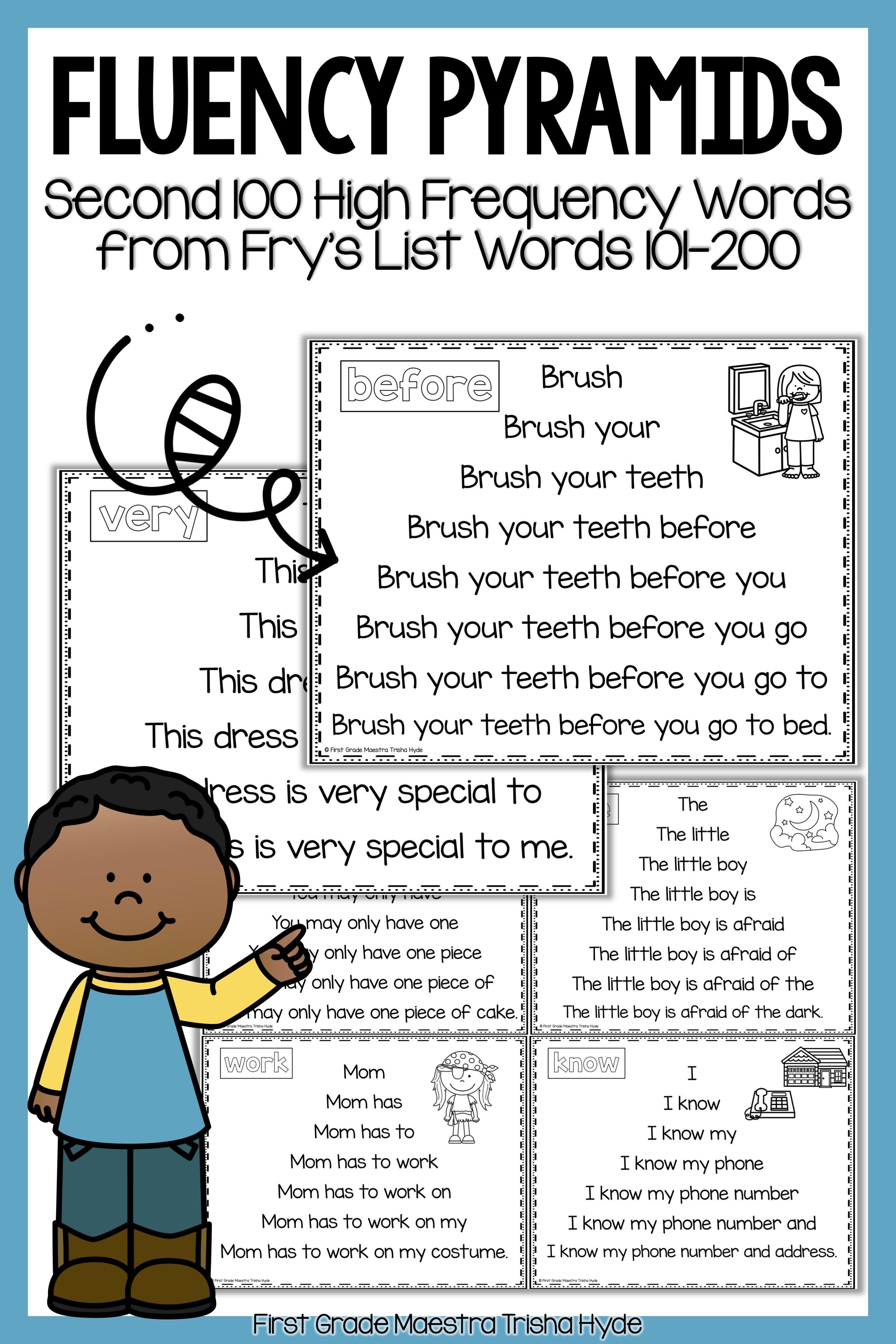 Sight Word Fluency Pyramids Frys Second 100 First Grade Sight Words Sight Word Fluency Sight Words [ 4000 x 2667 Pixel ]