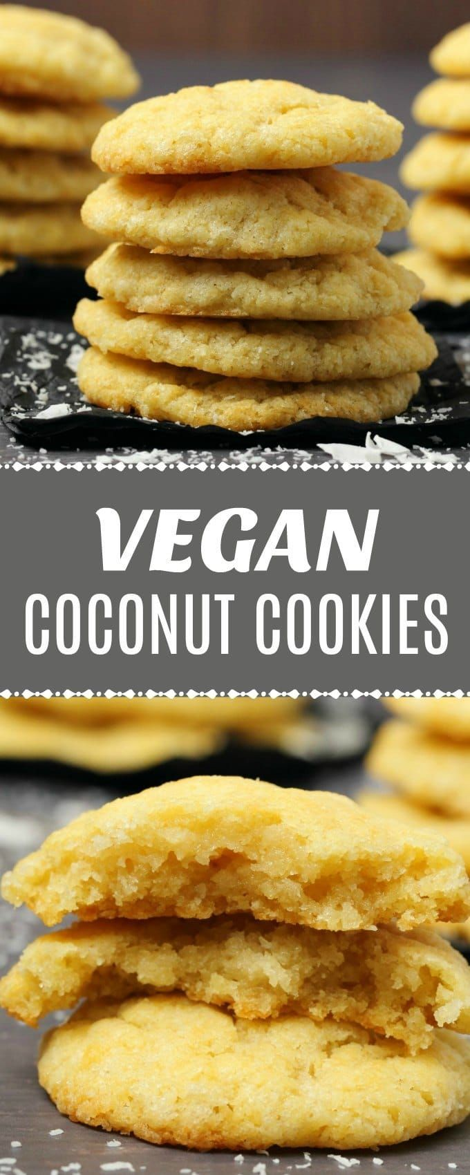 Soft, moist and buttery vegan coconut cookies packed with coconut flavor and tex... -  Kuchen... Soft, moist and buttery vegan coconut cookies packed with coconut flavor and tex... -  Kuchen vegan -