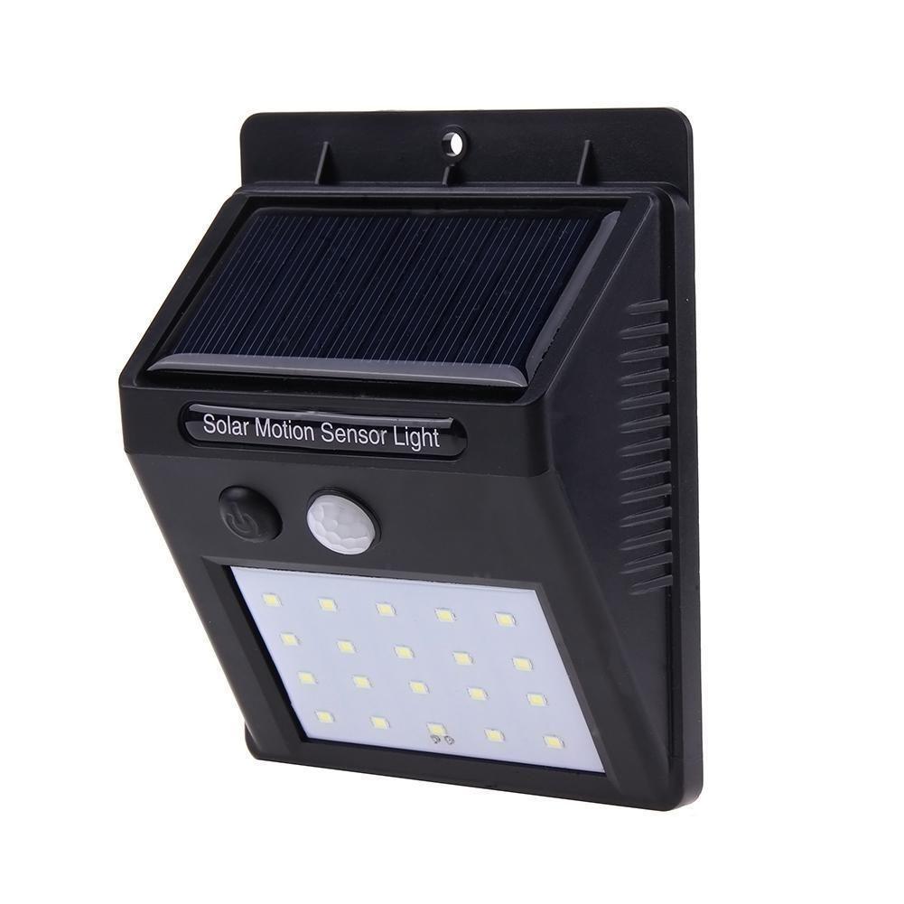 Waterproof 20 LED Solar Lights Motion Sensor Wall Light Garden Yard RD