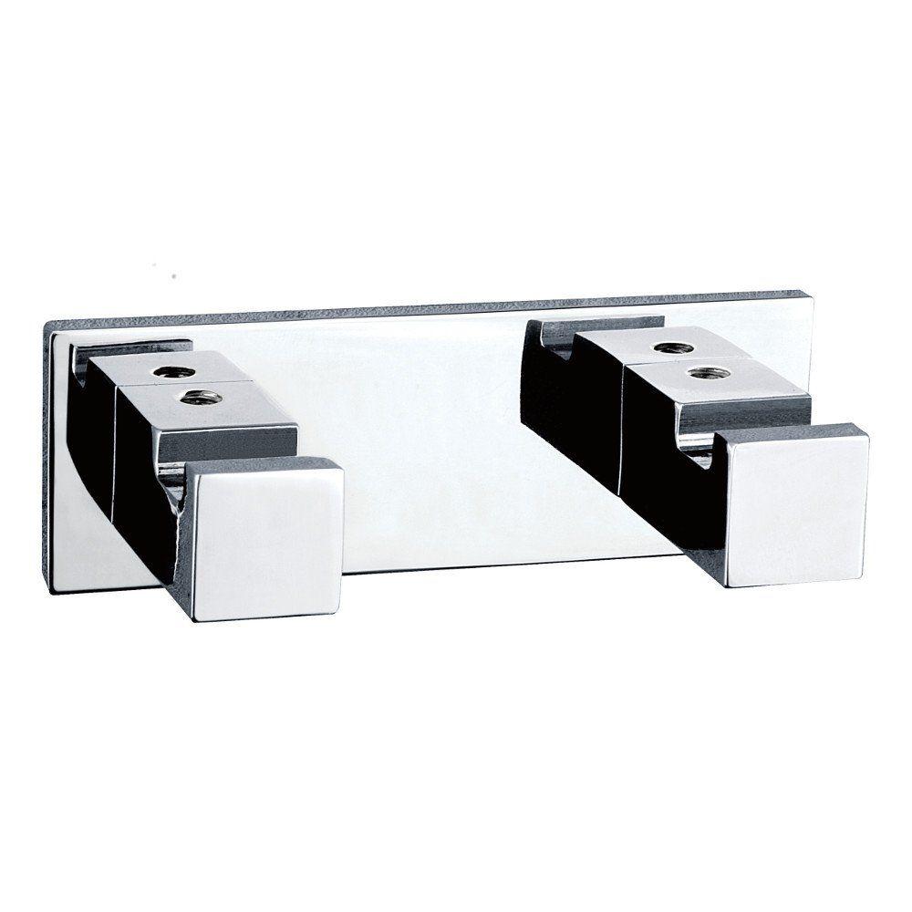 Luk 2 Hook Double Chrome Easy Bathroom Updates Bathroom Accesories Towel Hooks