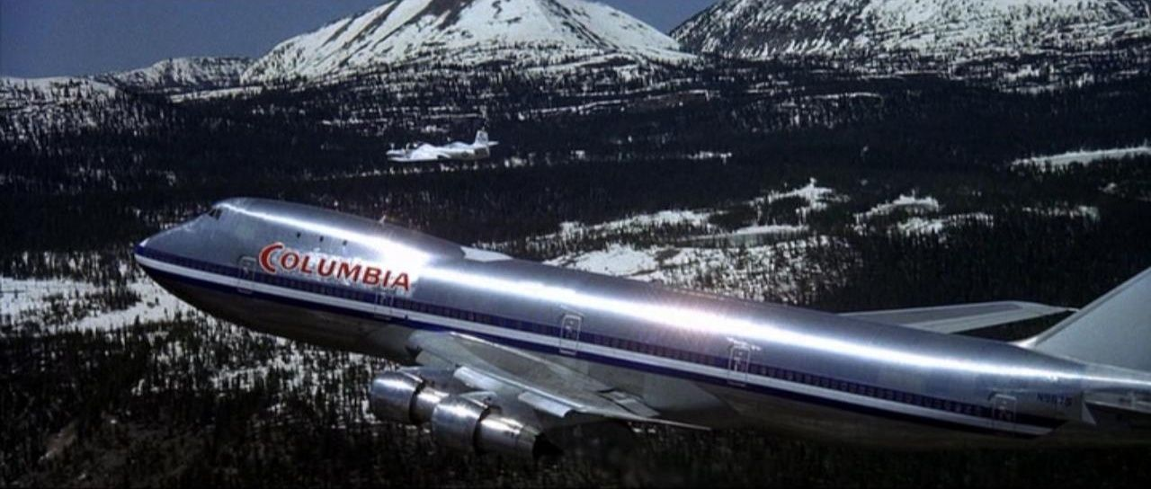"""Boeing 747 in fictional airline livery """"Columbia"""" Airport"""