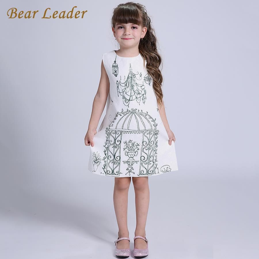 Winter princess dresses children clothing birdcage pattern design