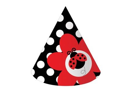 Creative Converting Ladybug Fancy 1st Birthday Molded Candle 2-Pack