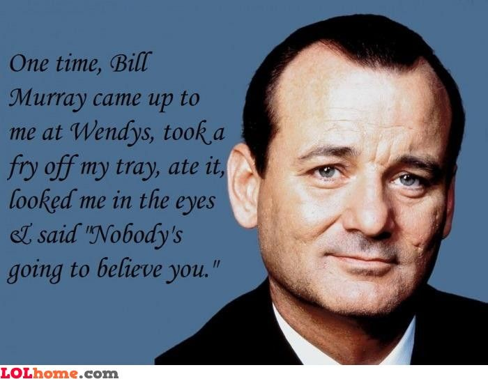 Ya know what...I can totally see Bill Murray doing this...