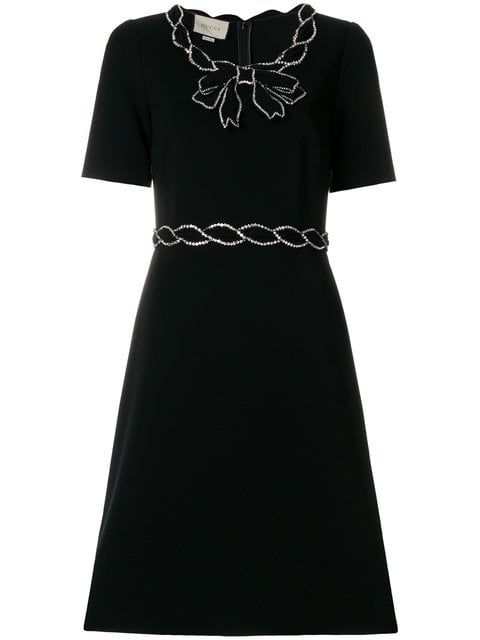 2567d739d Shop Gucci crystal trim dress Buy Gucci, Modern Vintage Fashion, Short  Sleeve Dresses,