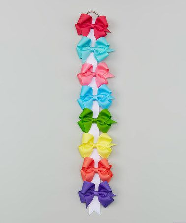 Loving this 3'' Spring Brights Bow Clip - Set of Eight on #zulily! #zulilyfinds