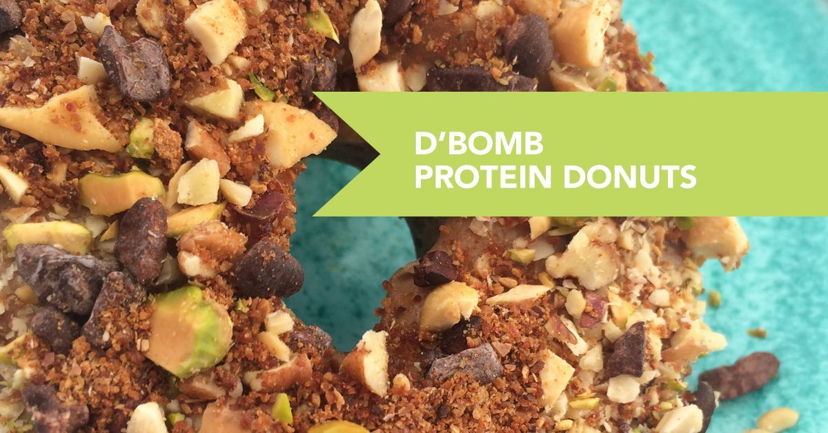 You no longer have to sneak to your local donut shop to fulfill your craving for a sweet, round donut with these D'Bomb Protein Donuts. #proteindonuts You no longer have to sneak to your local donut shop to fulfill your craving for a sweet, round donut with these D'Bomb Protein Donuts. #proteindonuts