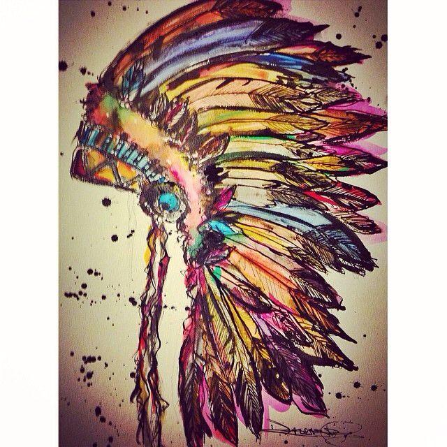 93e1d5c0cde Indian art Indian Headdress Tattoo