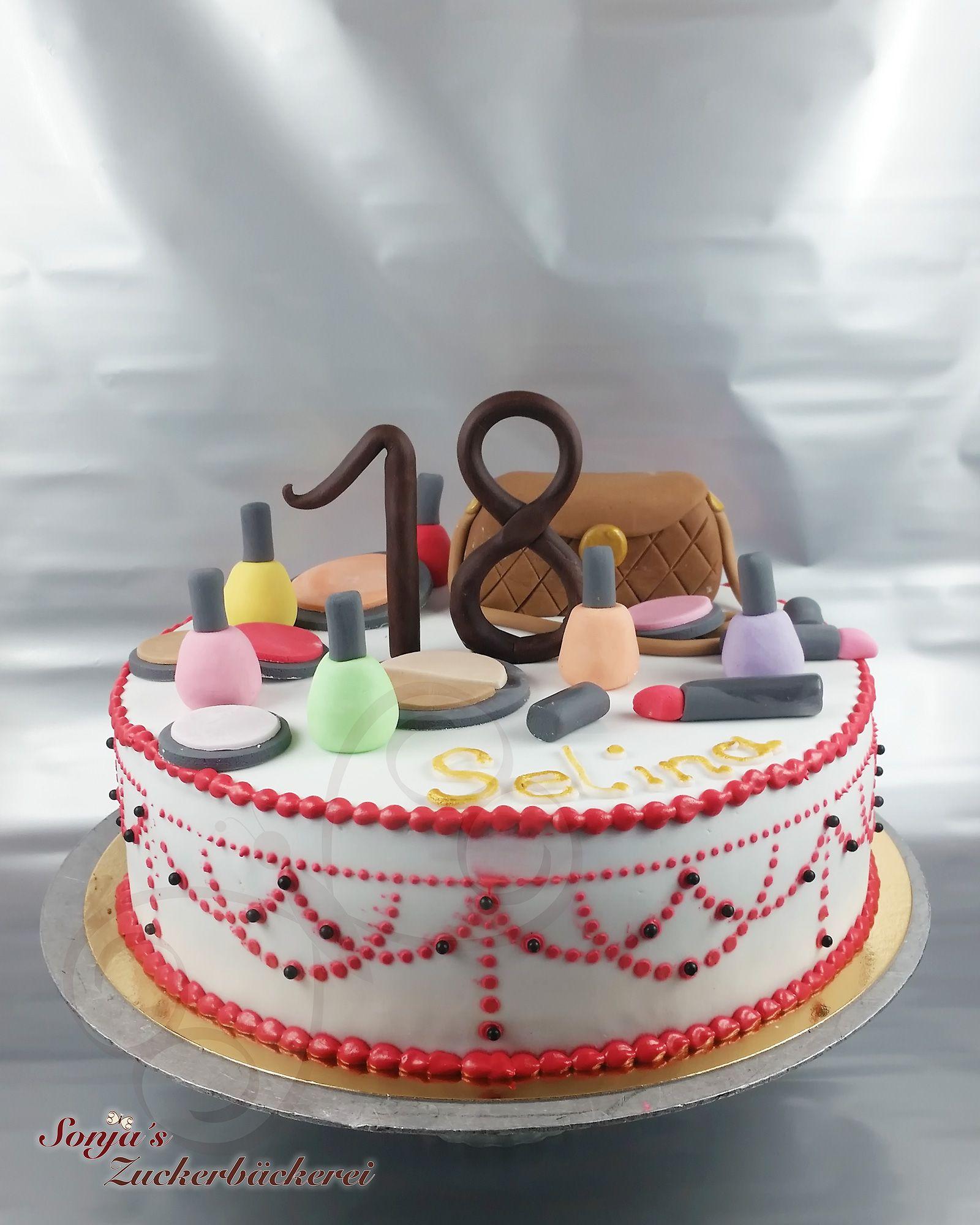 Geburtstagstorte Mit Make Up Geburtstagstorte Torten Backerei