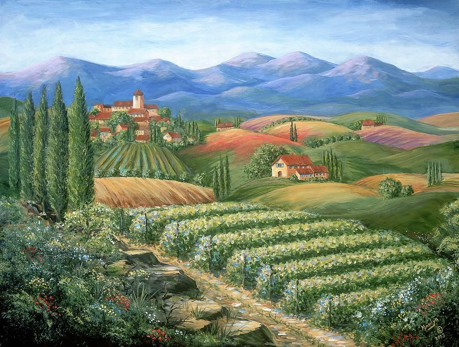 Large Tuscany Art Scenery Art Prints And Posters Canvas
