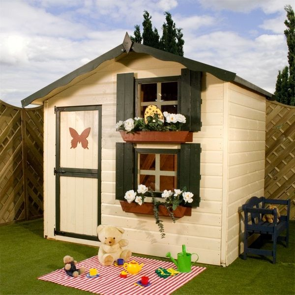 kinderspielhaus iden f r ihre kleinkinder gr ner garten. Black Bedroom Furniture Sets. Home Design Ideas