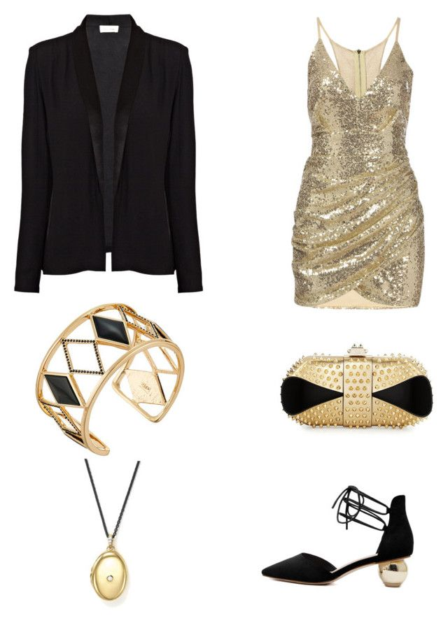 """Untitled #337"" by lakishablack on Polyvore featuring Christian Louboutin, American Vintage, Rebecca Minkoff and Monica Rich Kosann"